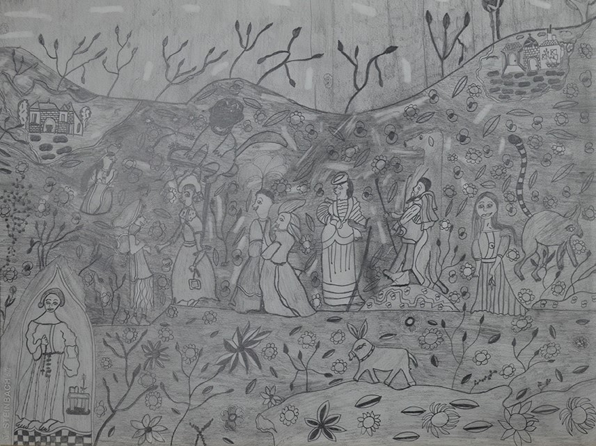 Christelle Hawkaluk, sans titre, nd, crayon gris sur papier, 55 x 73 cm