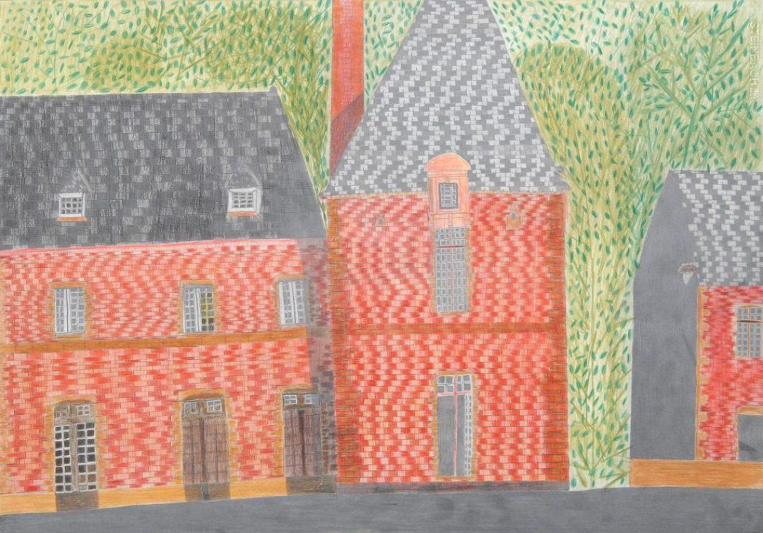 Maurice Brunswick, Sans titre, 2005, crayon de couleur sur papier, 55 x 73 cm_1