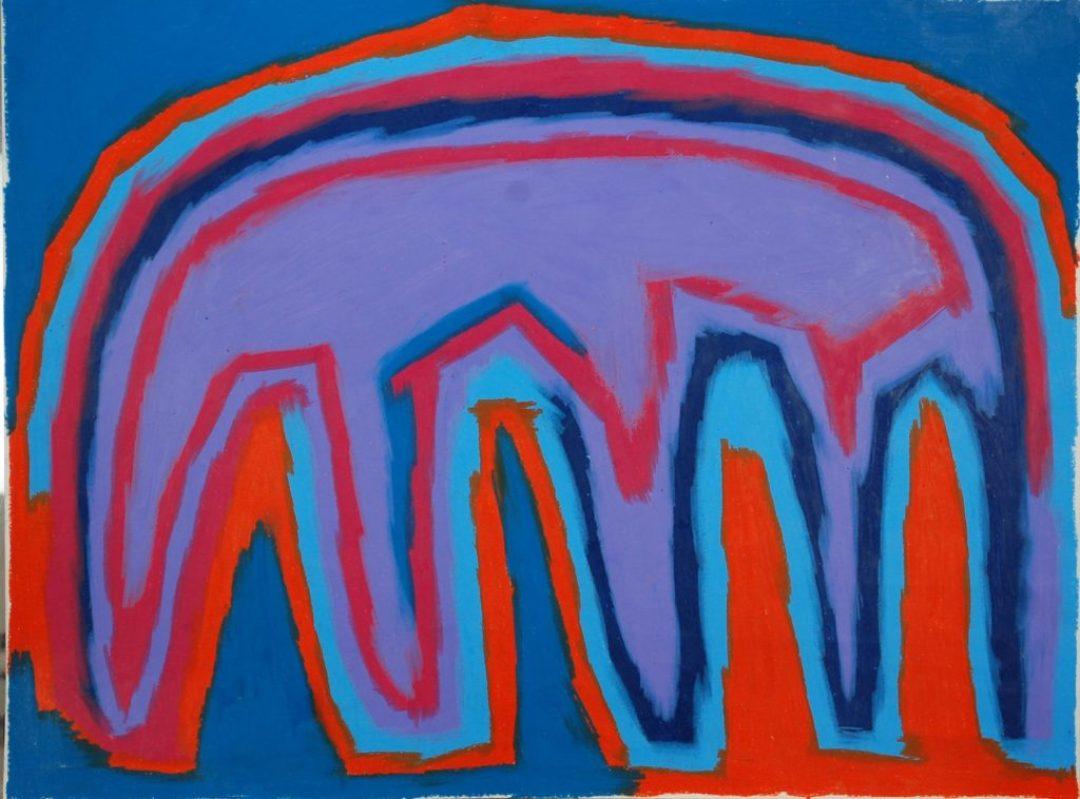 François Defontaine, Sans titre, nd, pastel gras sur papier, 73 x 55 cm