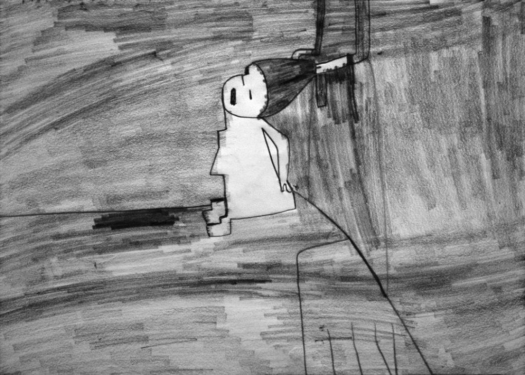 Alexis Lippstreu, Sans titre, nd, crayons gris sur papier, 55 x 73 cm