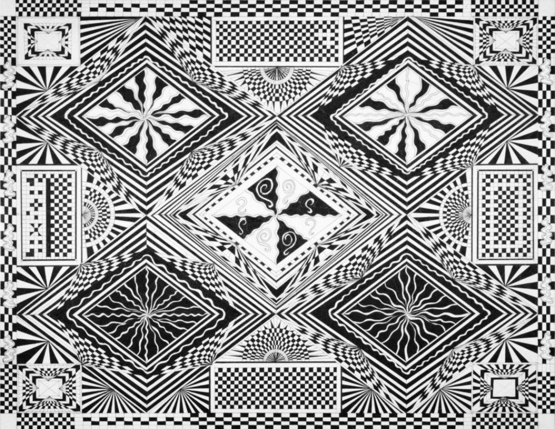 Daniel Douffet, sans titre, 2012, marqueur noir sur papier, 55 x 73 cm