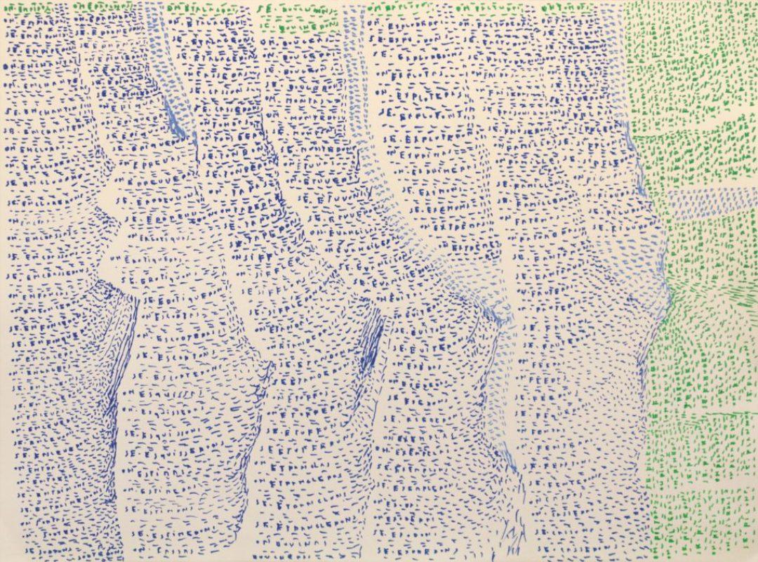 Michel Dave, Sans titre, 2014, marqueurs acrylique sur papier, 55 x 73 cm