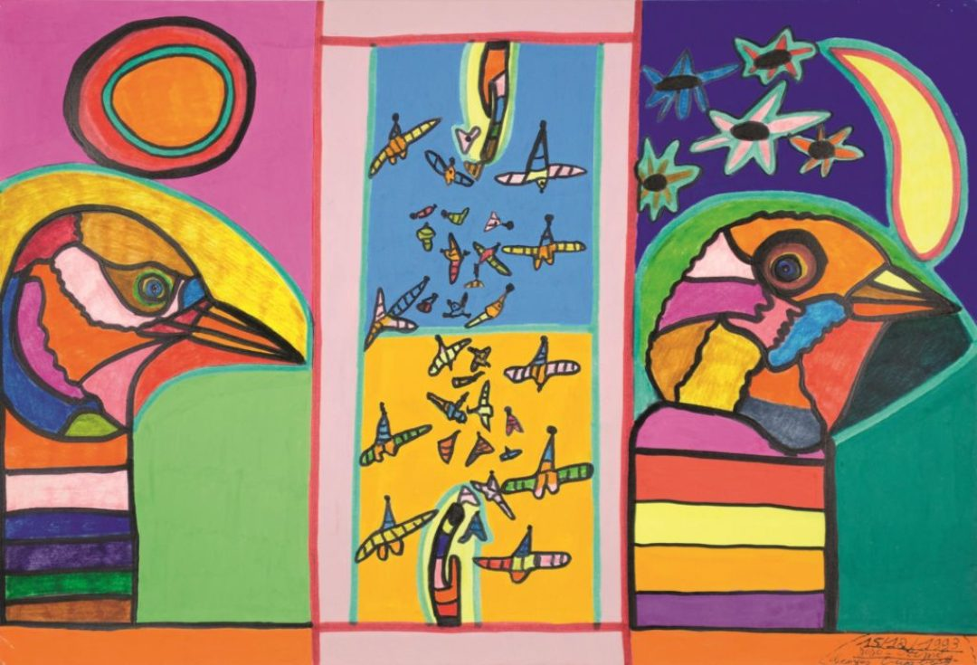 Georges Duesberg (Jojo Aimé), sans titre, 1993, gouache sur papier, 36,5 x 55 cm