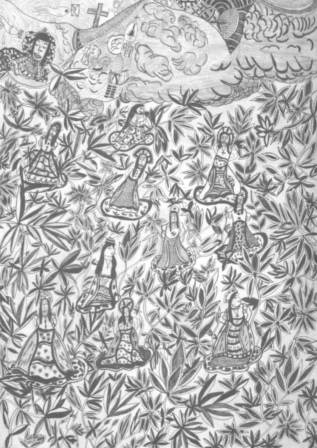 Christelle Hawkaluk, sans titre, 2007, crayon gris sur papier, 73 x 55 cm