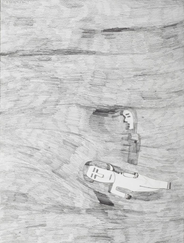 Alexis Lippstreu, Sans titre, 2010, crayons gris sur papier, 73 x 55 cm