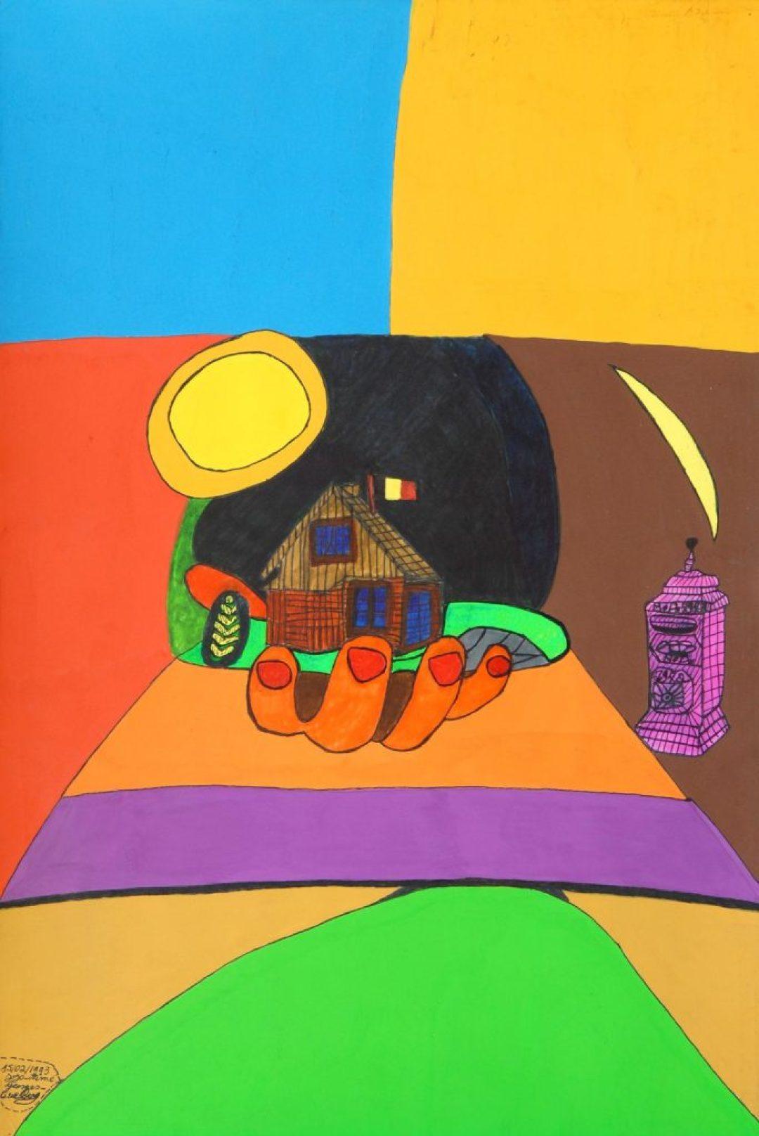 Georges Duesberg (Jojo Aimé), sans titre, 1994, gouache sur papier, 73 x 55 cm