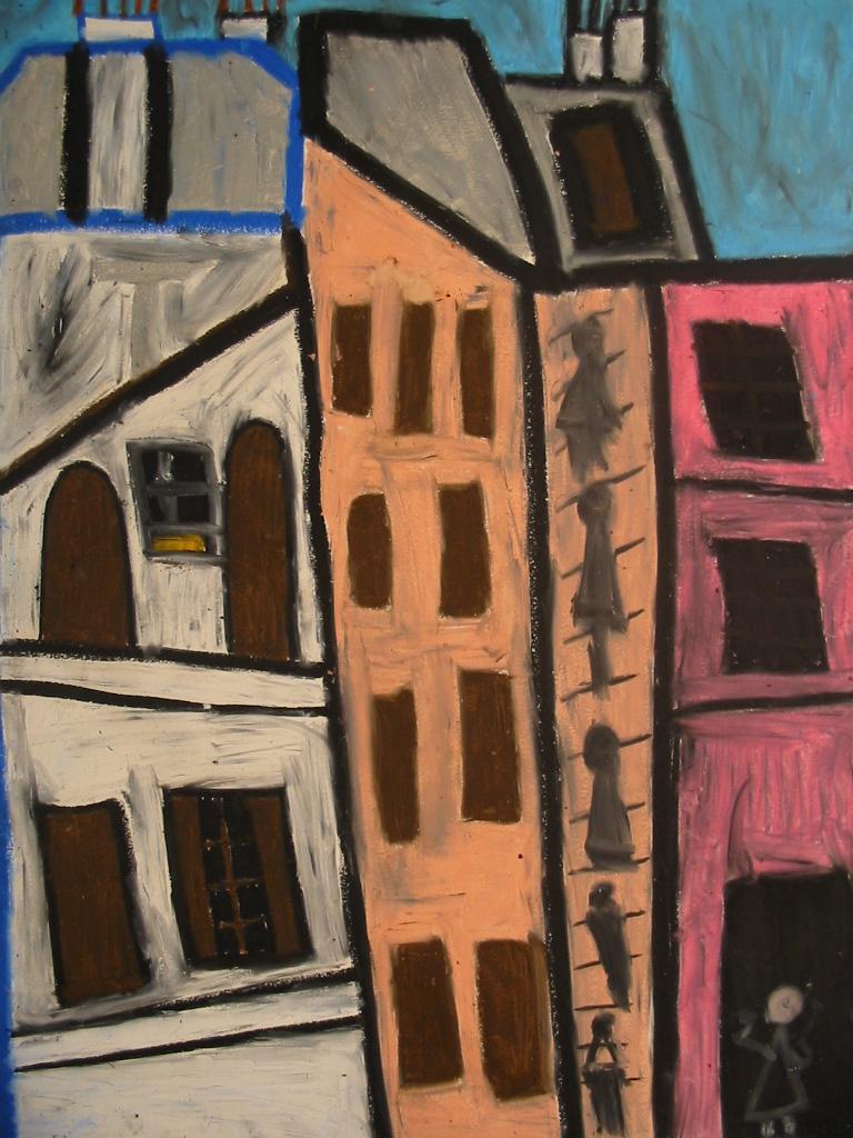 Michel Beauthier, sans titre, 1994, pastel à l'huile, 73 x 55cm