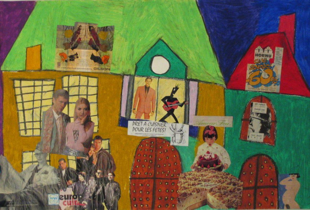 Michel Beauthier, sans titre, nd (ca 1990), pastel à l'huile, 55 x 73cm