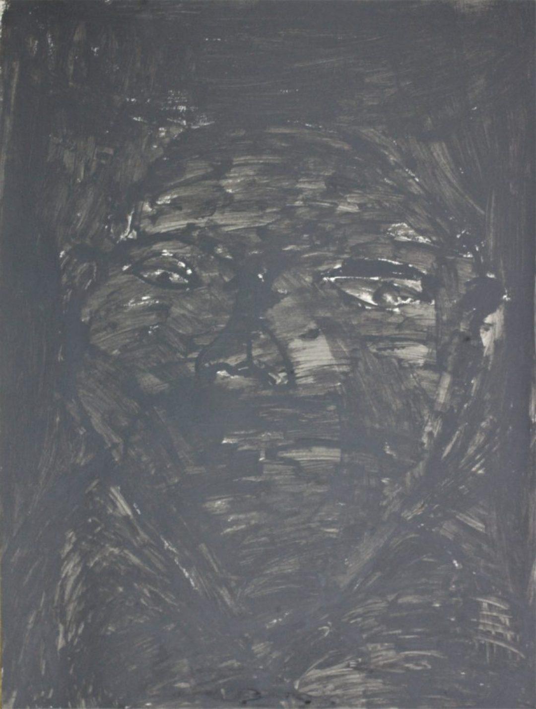 François Peeters, 2017, peinture acrylique sur papier, 55 x 73cm