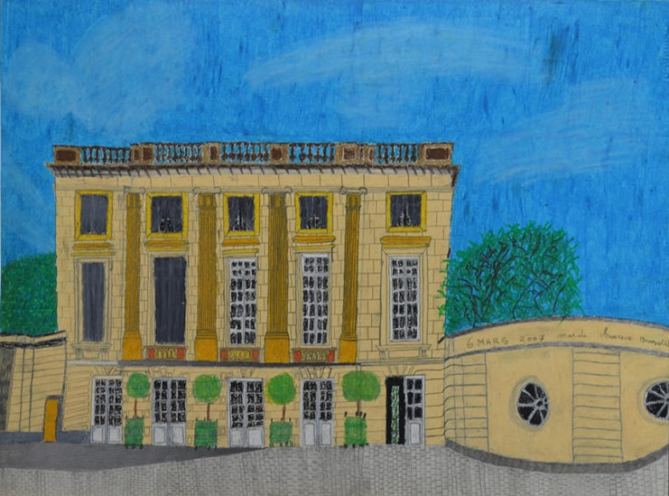 Maurice Brunswick, Sans titre, 2007, crayon de couleur sur papier, 55 x 73 cm