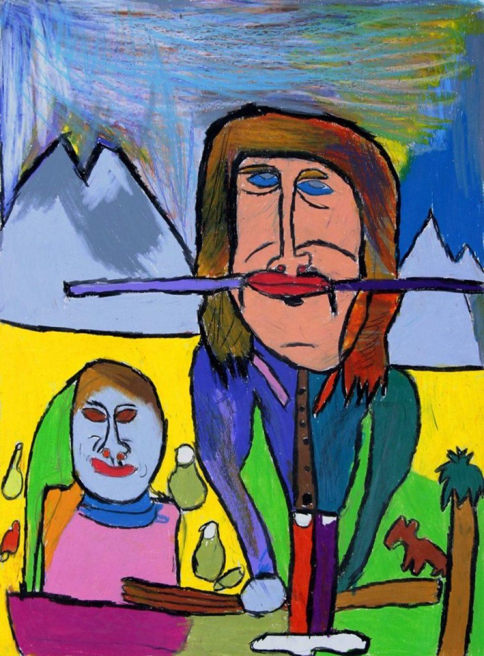 11.Jean-Jacques Bonnier, Sans titre, 2006, pastel gras sur papier, 73 x 55 cm_1