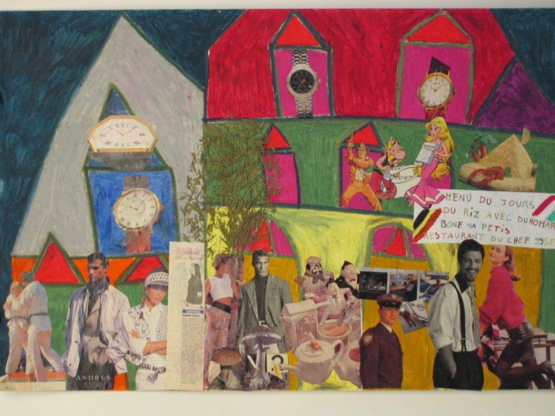Michel Beauthier, sans titre, nd (ca 1990), collage, technique mixte sur papier, 55 x 73cm