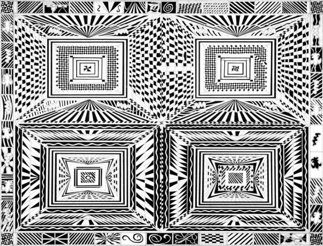 Daniel Douffet, sans titre, nd, marqueur noir sur papier, 55 x 73 cm