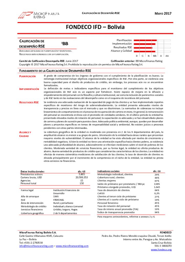 thumbnail of Informe Final calificación RSE FONDECO -Dic2016