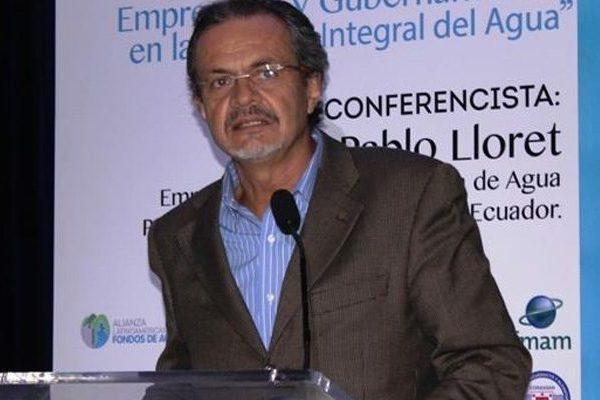 Experto ecuatoriano dicta charla sobre fondos de agua