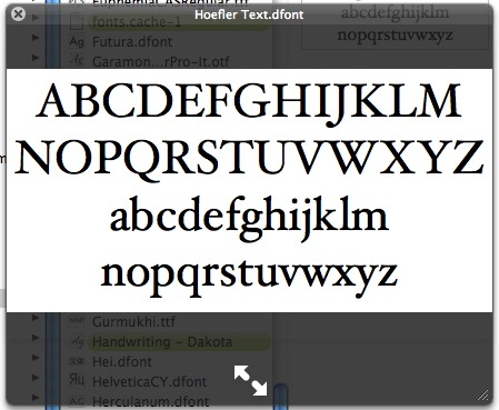 A Quick Look at your fonts | font is