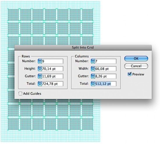 how to add grid over in illustrator