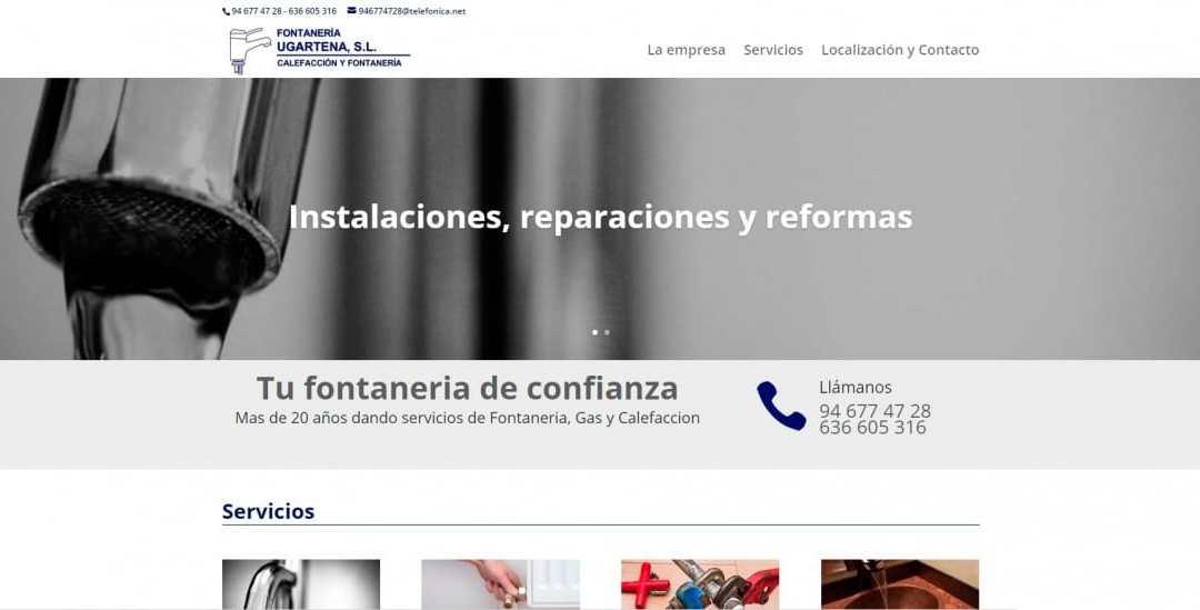 Fontaneria Ugartena estrena nueva web