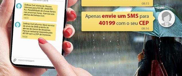 Defesa Civil de São Pedro oferece alertas de chuvas e orientações por SMS