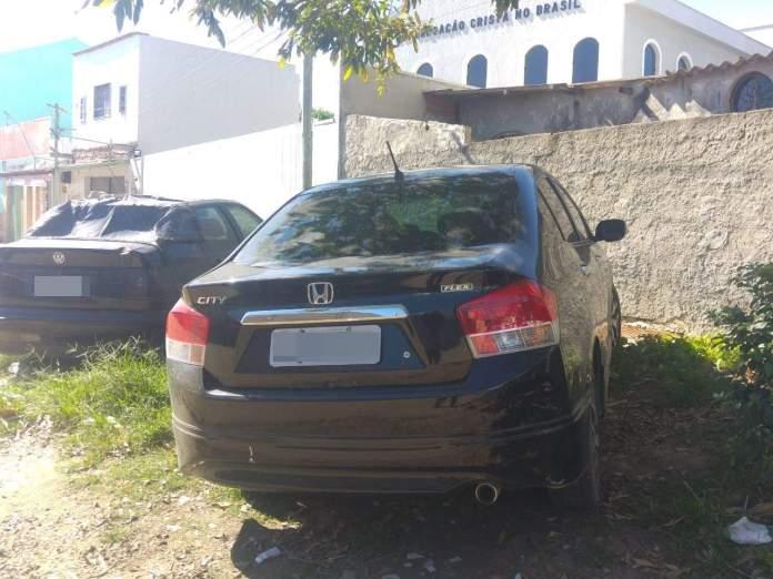 Veículo foi achado no bairro São João. Foto: PM/Divulgação