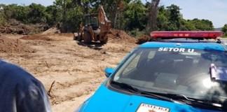 Denúncia era sobre uma supressão de vegetação e construções irregulares no local. Foto: Prefeitura/Divulgação