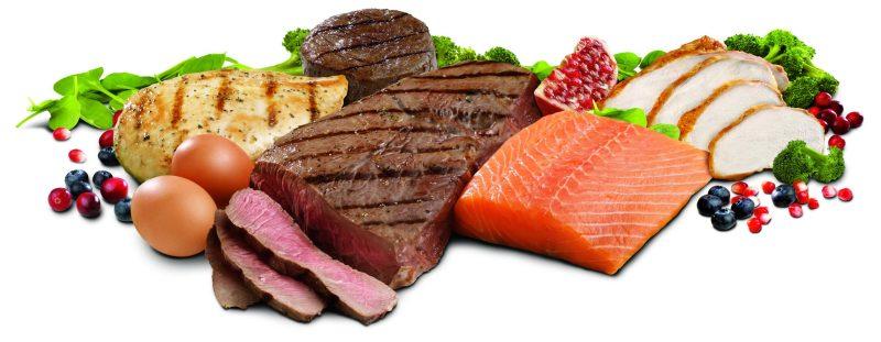 verduras e carnes em um fundo branco - Dieta Dukan: O que é? Funciona? Veja Cardápio Simples e Fácil!