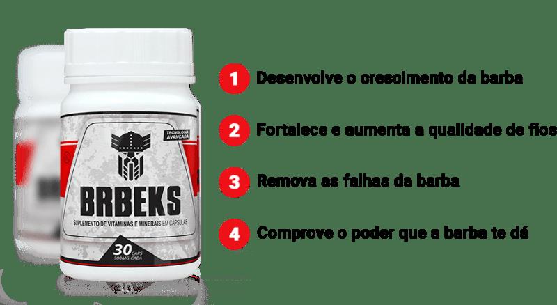 BRBEKS Oficial - Produto Para Fazer a Barba Crescer - Beneficios