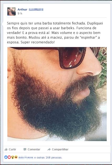 Brbeks - barba lenhador curta como fazer - depoimento Arthur