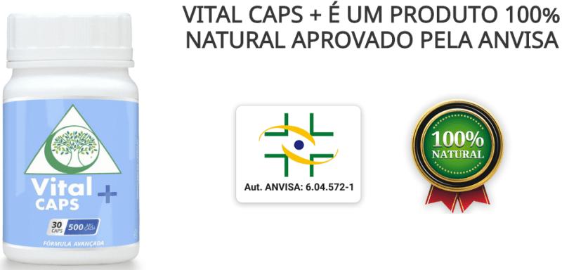 Vital Caps Suplemento Natural contra Ansiedade Depressão e Insonia autorizado pela anvisa - Vital Caps + Suplemento Natural contra Ansiedade, Depressão e Insônia