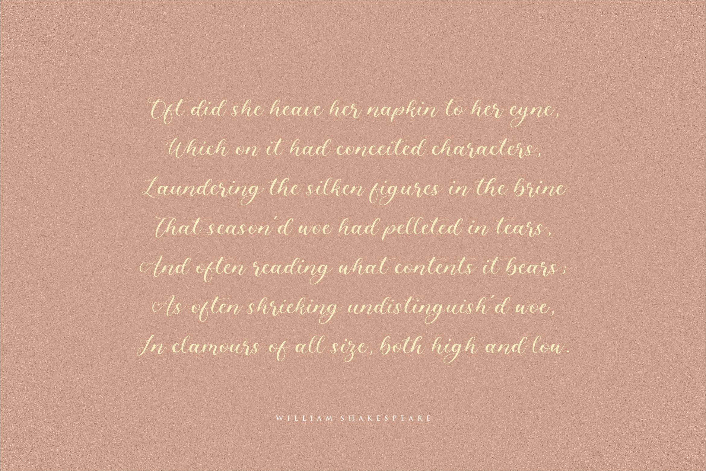 Angelinea Elegant Calligraphy Font3