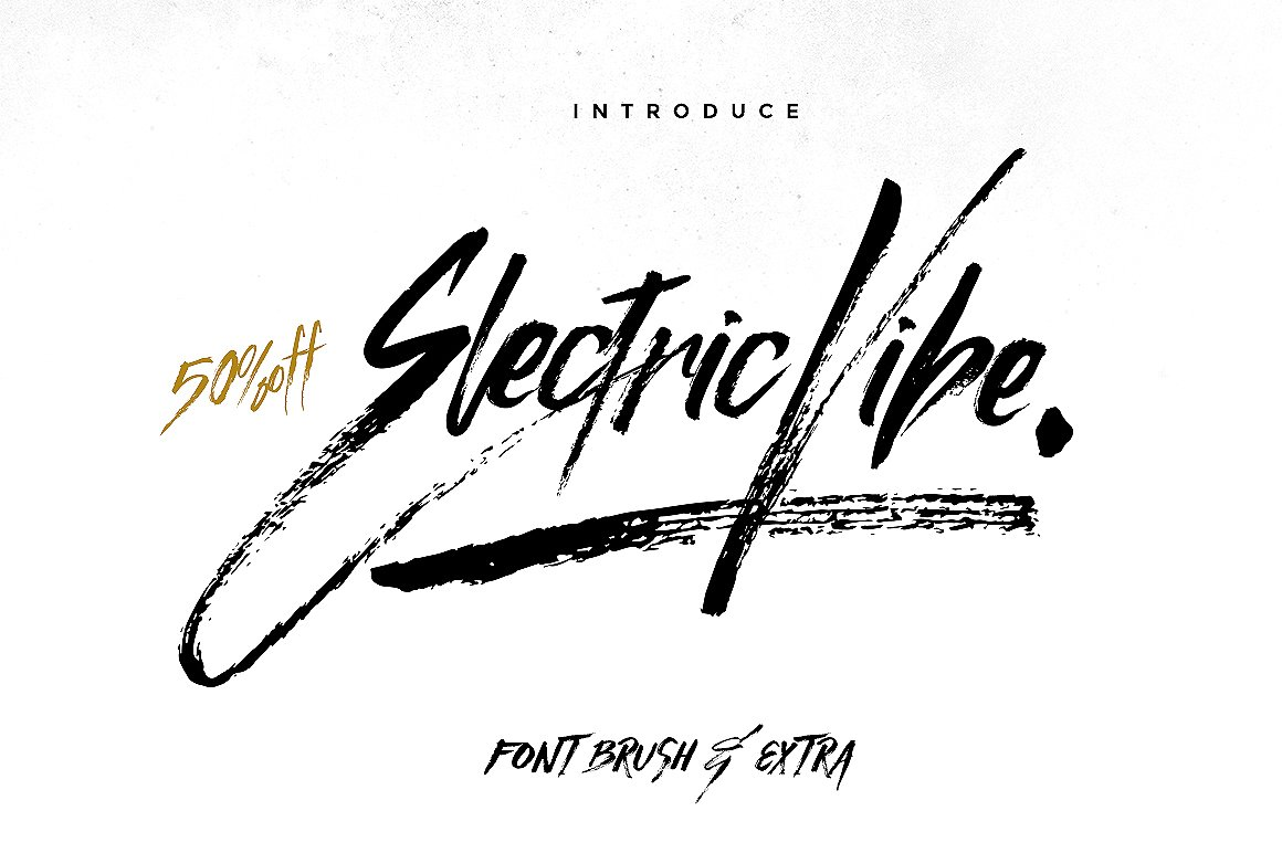 Electric Vibe Brush Font