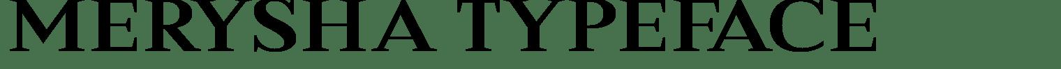 Merysha Typeface