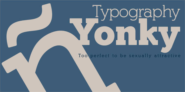 Yonky Black,Yonky, Black font,Yonky Black Typeface