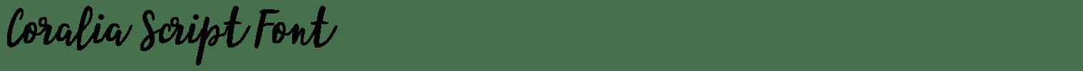 Coralia Script