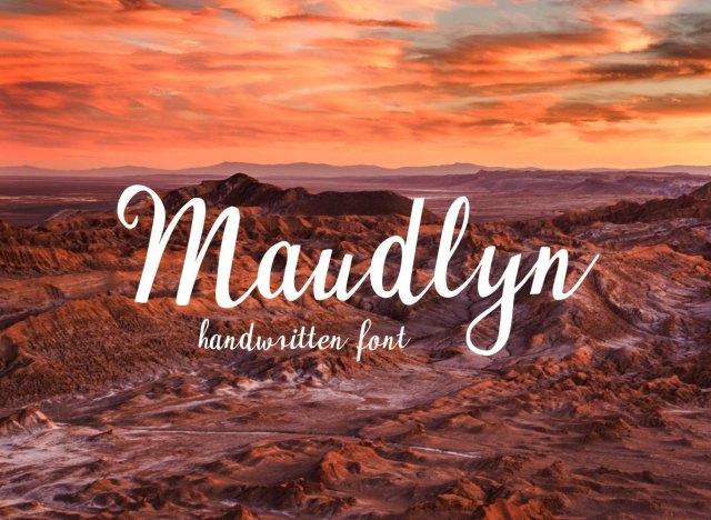 Maudlyn Script