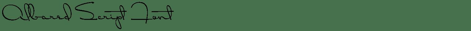Albared Script