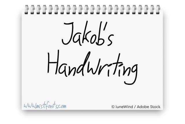 Jakob's Handwriting