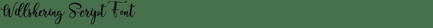 Willshering