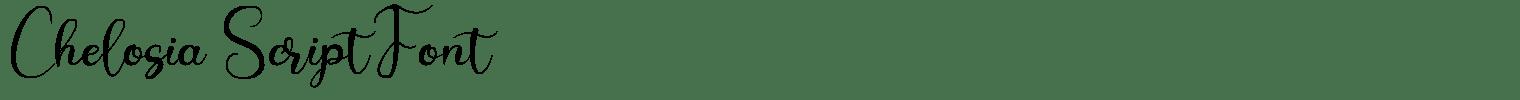 Chelosia Script