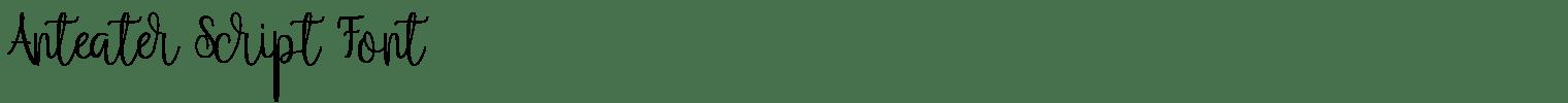 Anteater Script