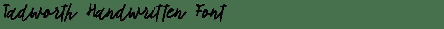 Tadworth Handwritten