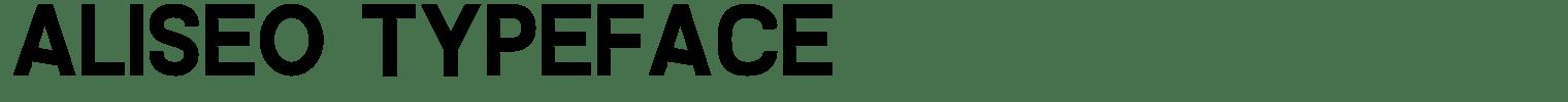 Aliseo Typeface