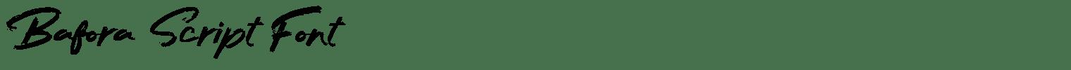 Bafora Script Font