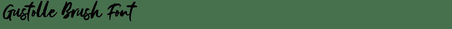 Gustolle Brush Font