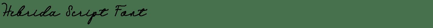 Hebrida Script Font
