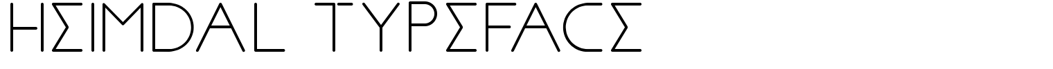 Heimdal Typeface
