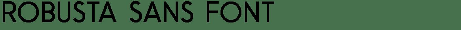 Robusta Sans Font
