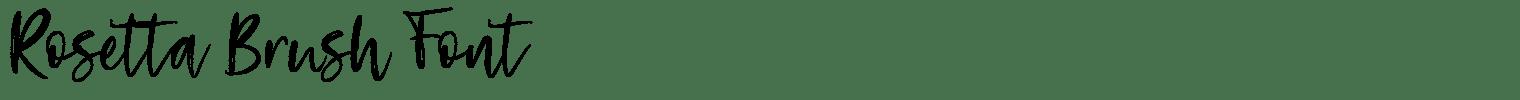 Rosetta Brush Font