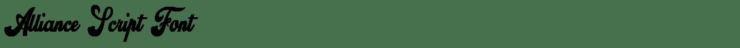 Alliance Script Font