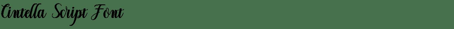 Cintella Script Font